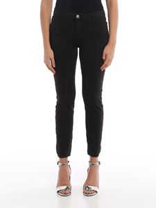 MY TWIN Twinset - Faded effect skinny jeans in black