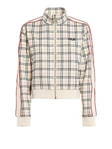 Fila - Tevy Aop tartan jacket in cream color