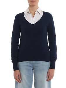 Twin-Set - V-neck sweater in blue
