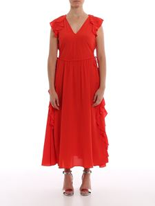 Twin-Set - Ruffled long dress in red