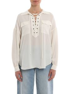 Twin-Set - Braided ribbon blouse in white