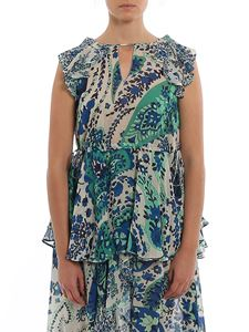 Twin-Set - Paisley print top in blue