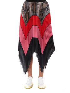 MSGM - Multicolor striped pleated skirt