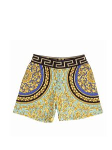 Versace Young - Fluo baroque shorts