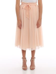 MY TWIN Twinset - Pleated tulle skirt in pink