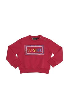 Versace Young - Red sweatshirt with 90s logo