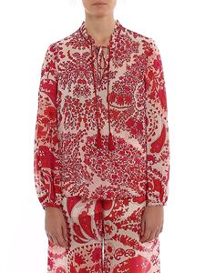 Twin-Set - Paisley print blouse in fuchsia
