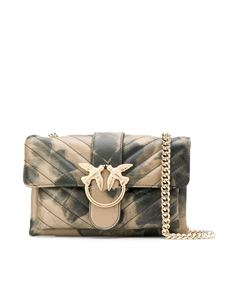 Pinko - Borsa Mini Love Bag Soft beige e verde