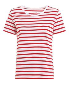 Majestic Filatures - Striped t-shirt in red and white
