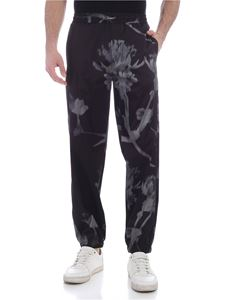 Paul Smith - Screen Floral print jogger pants in black