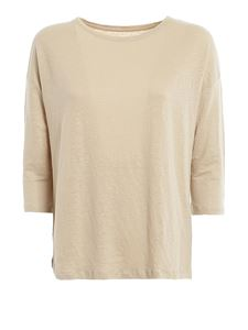 Majestic Filatures - Three quarter sleeve t-shirt in sand color
