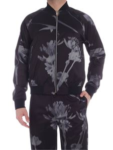 Paul Smith - Screen Floral print bomber jacket in black