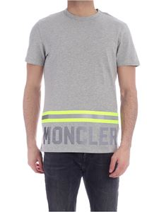 Moncler - Fluorescent and reflective details T-shirt in grey