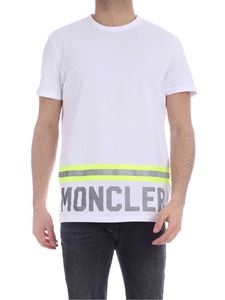 Moncler - Fluorescent and reflective details T-shirt in white