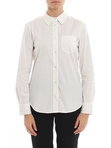 MY TWIN Twinset - Grosgrain band shirt in white