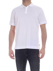 Z Zegna - Hidden buttons polo shirt in white