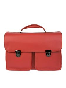 Zanellato - Grainy leather briefcase in red