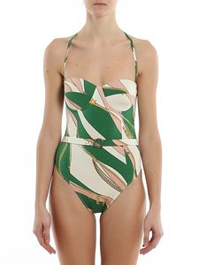 Elisabetta Franchi - Foulard printed one-piece swimsuit