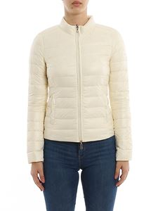 Patrizia Pepe - Reversible puffer jacket in cream color