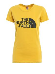 The North Face - T-shirt in yellow with logo print