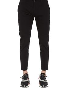 Department 5 - Stretch cotton cropped pants in black