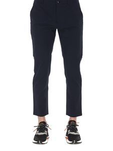 Department 5 - Stretch cotton cropped pants in blue