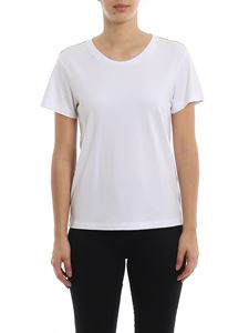 Patrizia Pepe - Chain detailed t-shirt in white