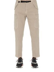 Department 5 - Stretch cotton cargo pants in beige