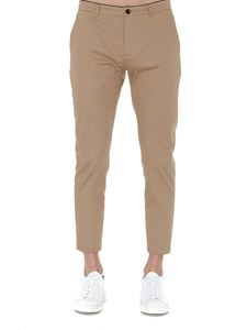 Department 5 - Stretch cotton cropped pants in beige