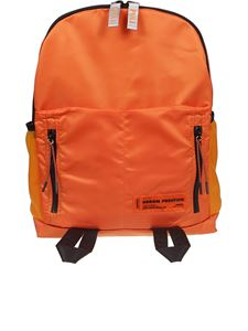 Heron Preston - Contrasting zip backpack in orange