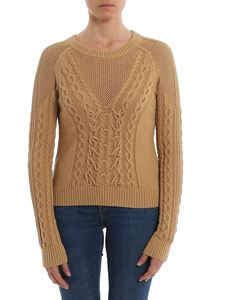 Patrizia Pepe - Woven knitted crew neck sweater