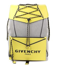 Givenchy - Bond backpack in grey and yellow