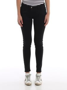 Patrizia Pepe - Jeggings with embroidered pocket in black