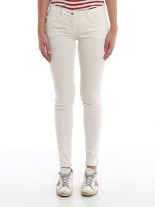 Patrizia Pepe - Jeggings with embroidered pocket in white