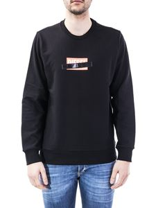 Diesel - Black crewneck sweatshirt with printed logo