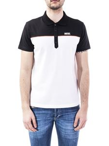 Diesel - Cotton pique polo in black and white