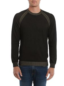 CP Company - Sweater in faded black with raglan sleeves
