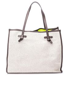 Gianni Chiarini - Marcella large tote in beige with yellow inserts