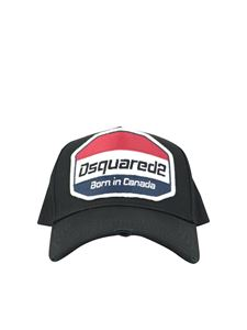 Dsquared2 - Used effect baseball cap in black