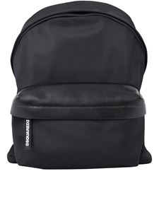 Dsquared2 - Leather details backpack in black