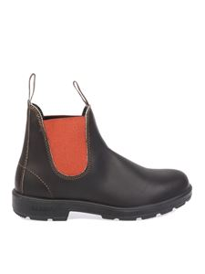 Blundstone - Contrasting detail Chelsea boots in brown
