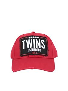 Dsquared2 - Twins used effect baseball cap in red