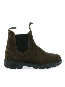 Blundstone - Suede Chelsea boots in brown