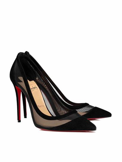 Christian Louboutin - Galativi décollétte with velor detail in black