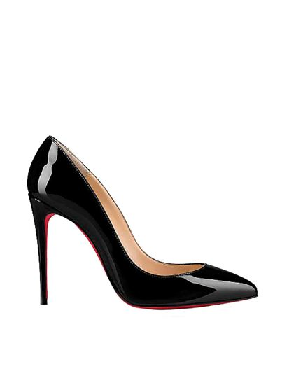 Christian Louboutin - Kate patent leather décolletté in black