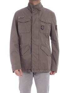 Herno - Field brown jacket with patch