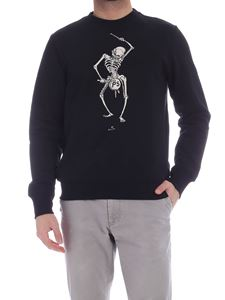 PS by Paul Smith - Drumming Skeleton print sweatshirt in black