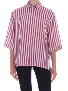 PS by Paul Smith - Relaxed fit stripes shirt in purple and ivory color