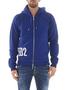 Dsquared2 - Logo print hoodie in blue