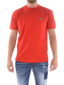 Dsquared2 - T-shirt rossa con stampa logo lettering